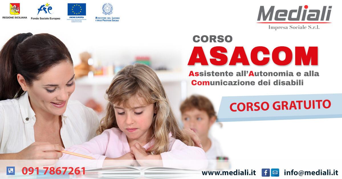 Corso Gratuito per Assistente all'Autonomia e alla comunicazione dei disabili (ASACOM)