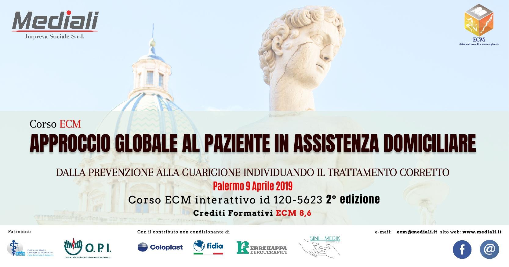 Corso ECM Approccio globale al paziente in assistenza domiciliare 2° Edizione